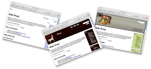 Blorgit: Org-Mode based, git amenable, blogging engine