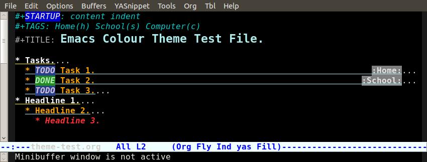 Org-Mode Color Theme Screenshots
